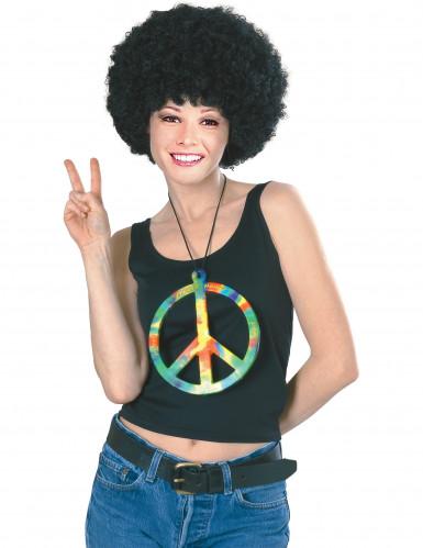 Collier hippie arc-en-ciel géant