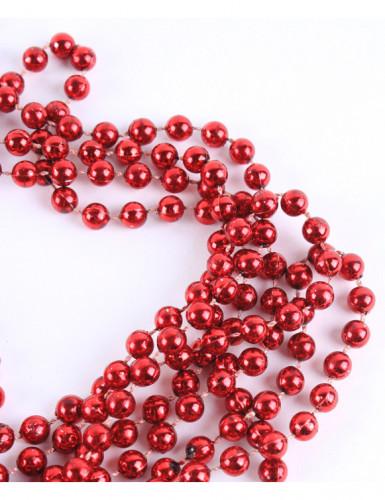 Guirlande perles rouges 5 mètres