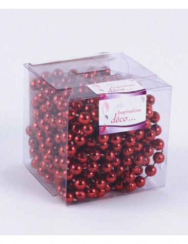 Guirlande perles rouges 5 mètres-1