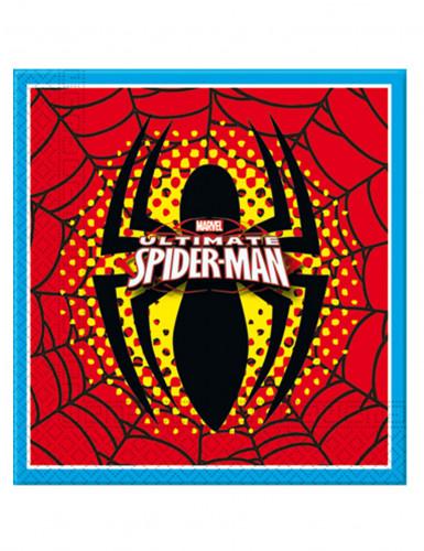 20 Serviettes en papier Ultimate Spiderman™ 33 x 33 cm