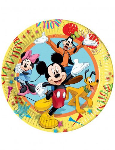 10 Assiettes en carton Mickey carnaval 23 cm