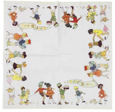 20 Serviettes en papier Anniversaire Rétro 33 x 33 cm