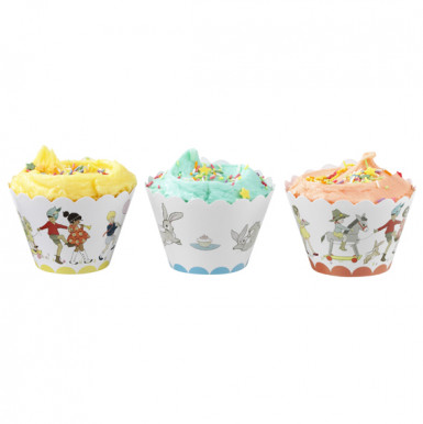Décorations pour cupcakes Anniversaire Rétro