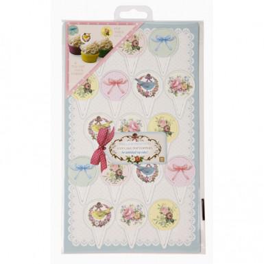 Pics en carton pour cupcakes Thé entre copines-2