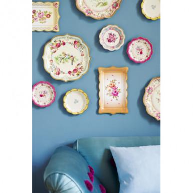 12 Petites assiettes en carton Thé entre copines 17 cm-1