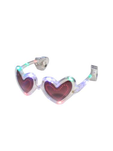 Lunettes coeur transparente LED