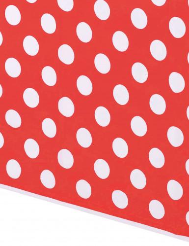 Nappe rouge à pois blanc plastique 137 x 274 cm-1