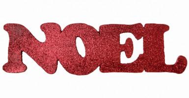 Décoration rouge Lettres Noël 40 cm