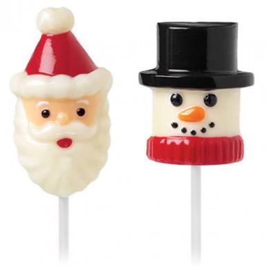 Moule pour chamallow Père Noël et bonhomme de neige