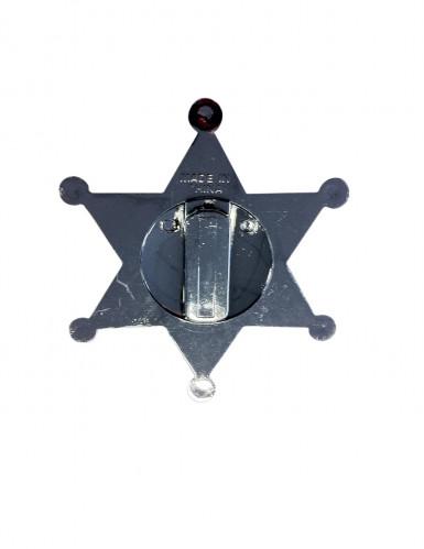 Etoile de sheriff argentée 7.5 cm-1
