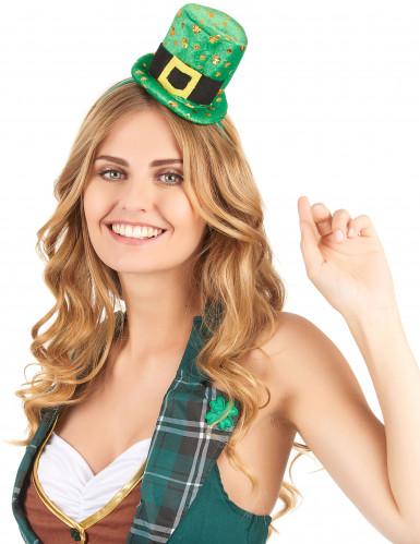 Serre-tête mini chapeau femme Saint Patrick-1