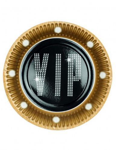 6 Assiettes en carton VIP 23 cm