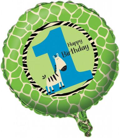 Ballon zèbre 1an
