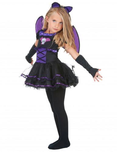 Déguisement chauve-souris noire et violette fille-1