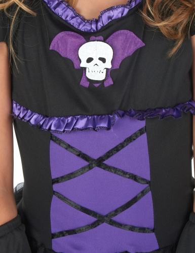 Déguisement chauve-souris noire et violette fille-7