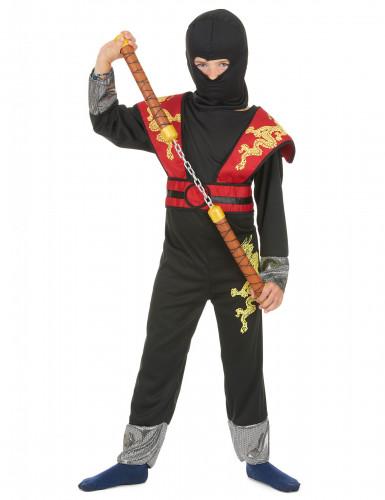 Déguisement ninja jaune et rouge garçon-1