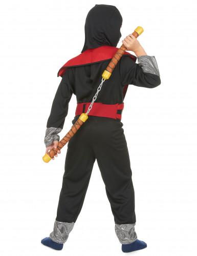 Déguisement ninja jaune et rouge garçon-2