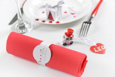 6 Ronds de serviette Vive les mariés  -1
