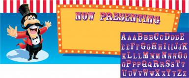 Bannière à personnaliser Cirque