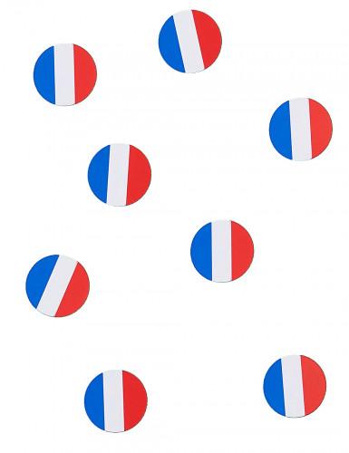 150 confettis de table drapeau France