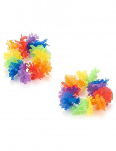 2 Bracelets hawaïens multicolores