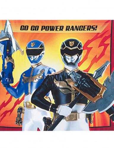 20 Serviettes en papier Power Rangers™ 33 x 33 cm