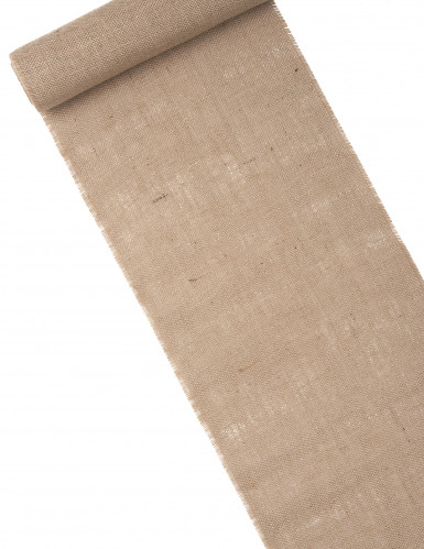 Chemin de table en toile de jute naturelle 5 m