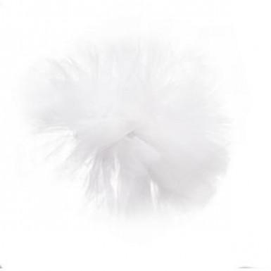 Pompon tulle à suspendre blanc 30 cm