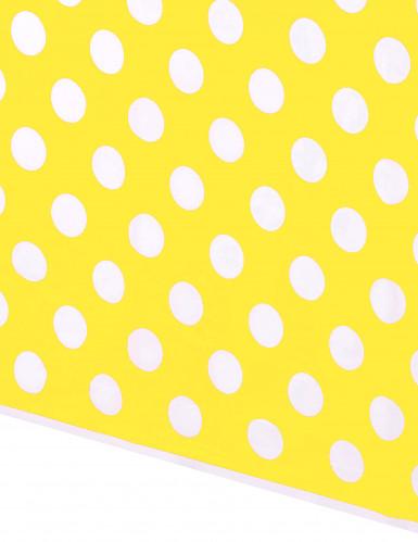 Nappe en plastique jaune à pois blancs 1,37  x 2,74 m-1