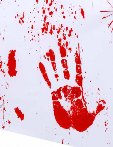 Nappe en plastique mains sanglantes 137 x 274 cm-1