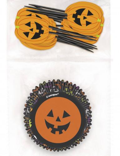 Moules à cupcakes et pics Halloween