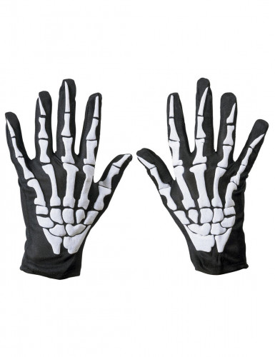 Gants squelette adulte Halloween