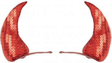Cornes rouges pailletées adulte Halloween-1
