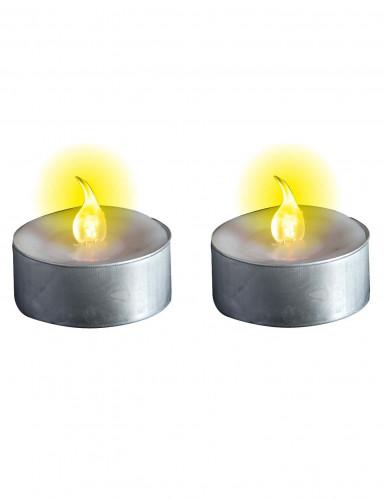 2 Bougies chauffe-plat lumineuses à LED