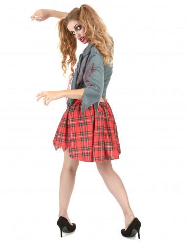 Déguisement zombie écolière femme Halloween -2