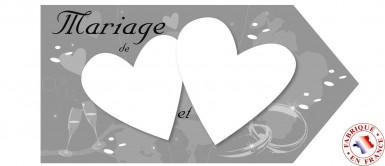 Flèche d'indication mariage gris argent