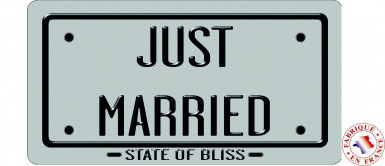 Plaque vive les mariés argent
