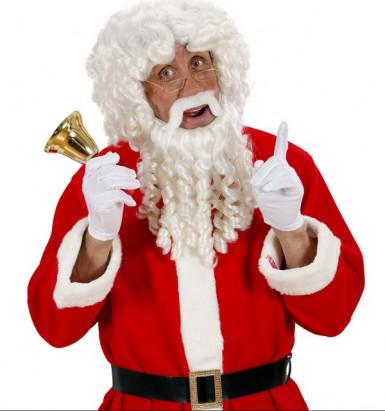 Perruque et barbe Père Noël luxe adulte-1