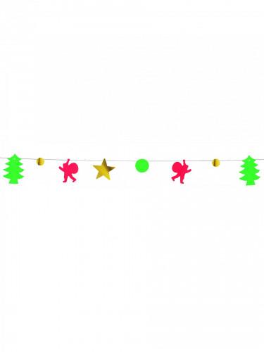 Guirlande de Noël métallique ignifugée