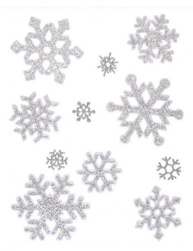 Flocons de neige à paillettes en gel repositionnable Noël