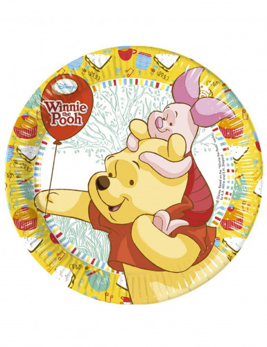 8 Assiettes carton Winnie l'Ourson™ 23 cm