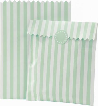 10 sachets ray s en papier menthe et blancs d coration anniversaire et f tes th me sur vegaoo. Black Bedroom Furniture Sets. Home Design Ideas