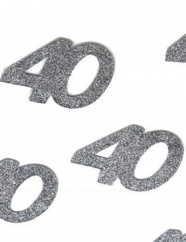 6 Confettis anniversaire 40 ans 6 x 5 cm-1