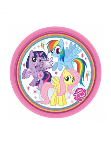 8 Petites assiettes en carton Mon petit poney™ 17 cm