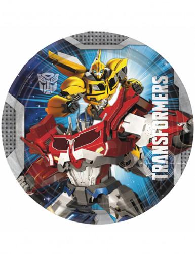 8 Assiettes en carton Transformers™ 23 cm