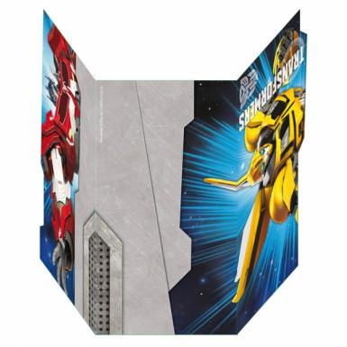 6 Cartes d'invitation Transformers™