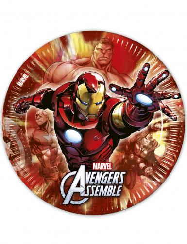 8 Assiettes en carton Avengers™ 23 cm