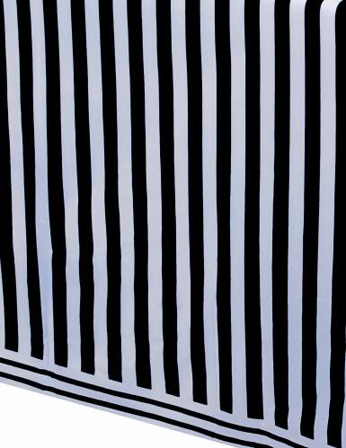 Nappe plastique rayée noir et blanc 137 x 274 cm-1