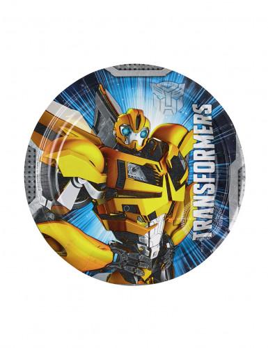 8 Petites assiettes en carton Transformers™ 18 cm