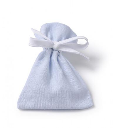 6 Sachets coton bleu ciel